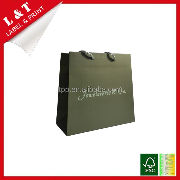 Private size and design printed paper shopping bag