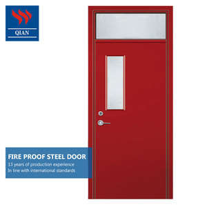 Safety steel insulated exterior stainless steel fireproof fire rated door