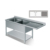 S274 Double Sinks Bench With Splashback