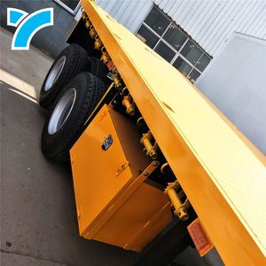 Competitive Price 40 Ft Flatbed Semi Trailer Multi-Axle Hydraulic Truck For Sale