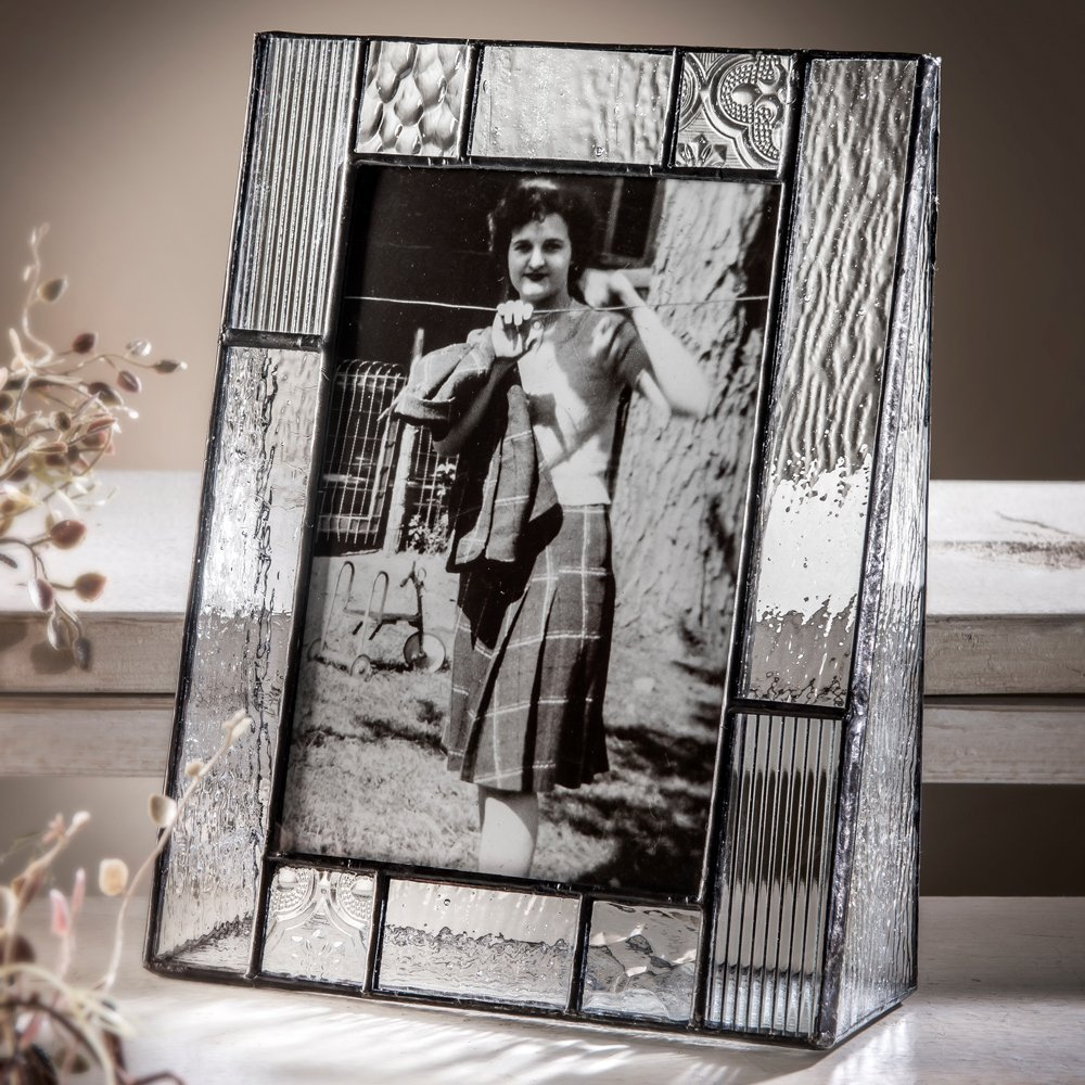 J Devlin Pic 310-46V 4x6 Clear Glass Picture Frame Stained Glass Vertical Photo