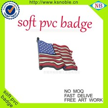 Costom pvc name badge with your design printing pvc flag badge