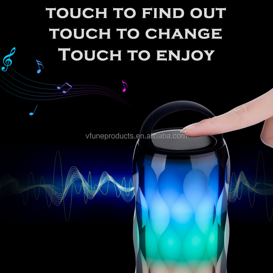 2019 New Arrival Private Mould Wireless Speaker Touch Control Color Changing Speaker Mini Portable Speaker