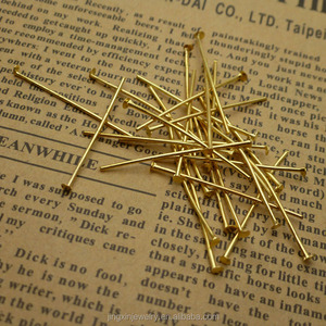 Jewelry Making Findings iron Flat Head pins T pins kind of size and color support