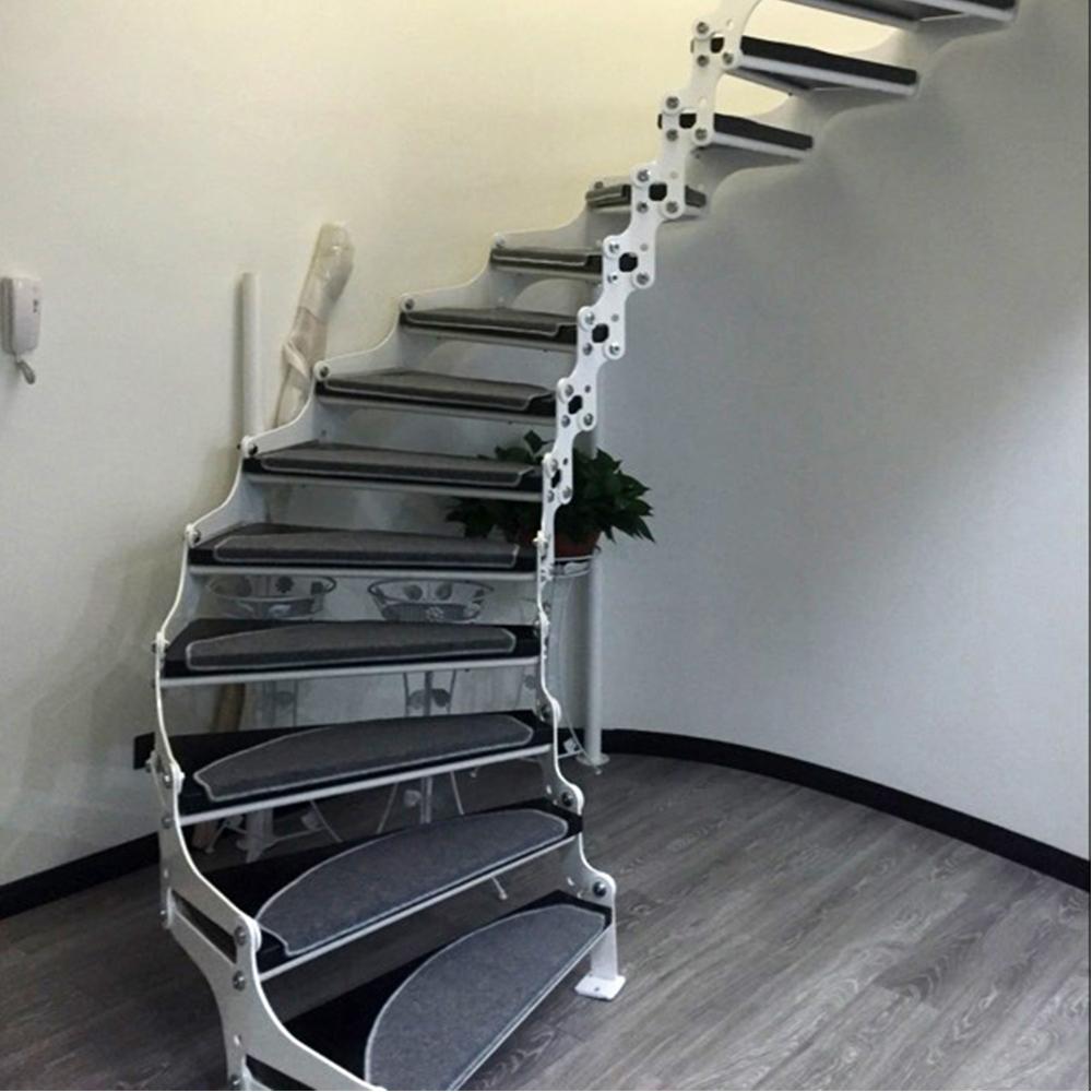 834704df95 yazi 13PCS Anti-Slip Stairs Carpet Self-adhesive Grey Color Brushed Plush  Rug Living Room Soft Safe Stairway Mat Washable
