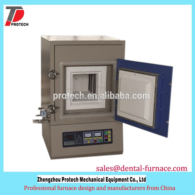 Protech 1400c gas controlled atmosphere furnace for nitrogen, argon lab heating