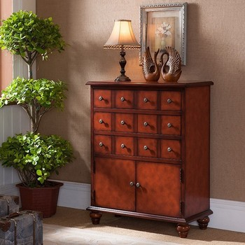 China Tall Wall Cabinet With Drawers Designs For Teak Dining Room