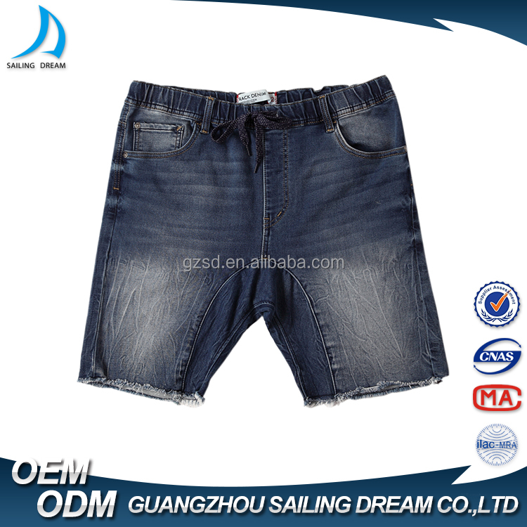 New arrival fashion ripped jeans plus size custom cheap cotton casual summer mens denim shorts