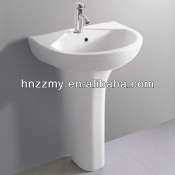 Charmant Ceramic Pedestal Free Stand Face Hand Wash Basin Sink For Bathroom ZZ MG07
