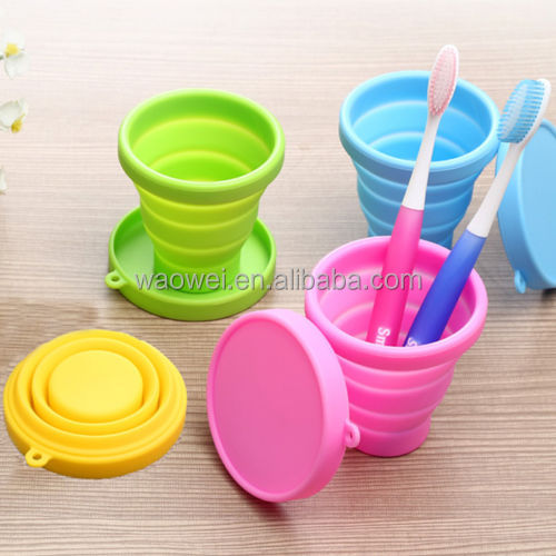 Foldable Trip Camping Silicone Cup Drinking Water Glass Holder Portable