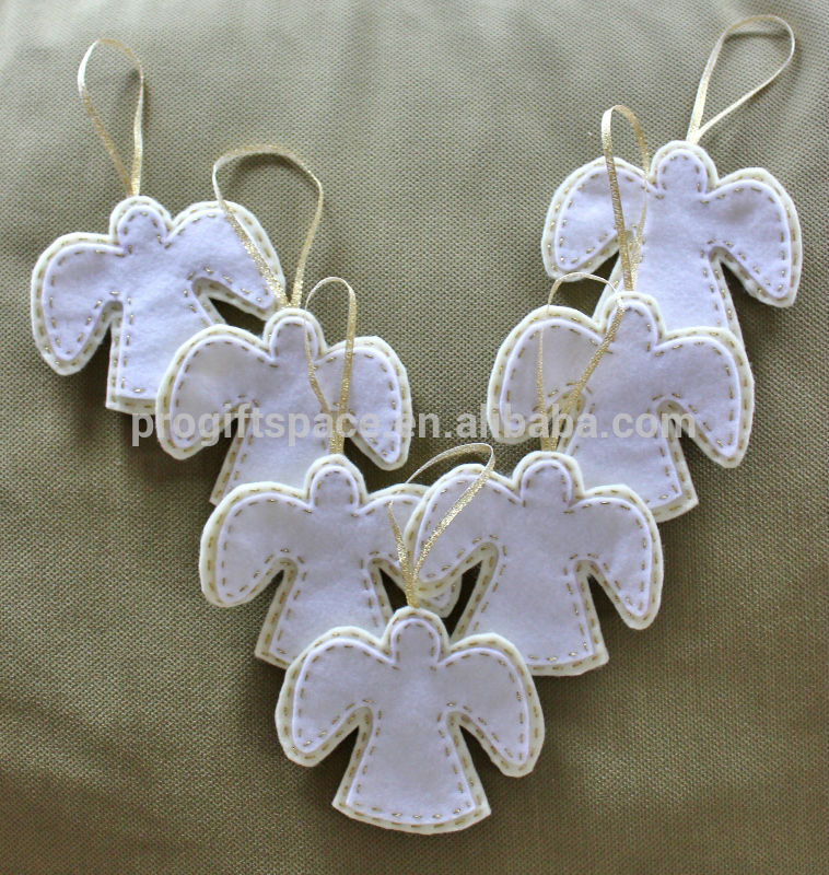 2018 new fashion hotsell eco friendly handmade crafts wholesale decorations USA lowes outdoor felt Christmas angel made in China