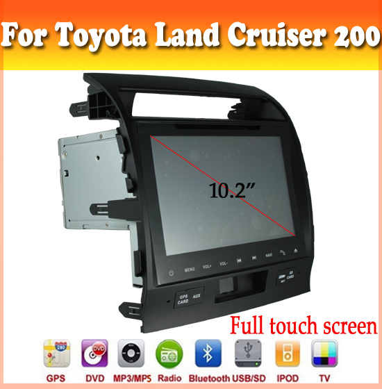 full touch sreen car dvd with GPS Navigation for Toyota Land Cruiser 200 2008-2010 car audio radio bluetooth ipod car dvd gps
