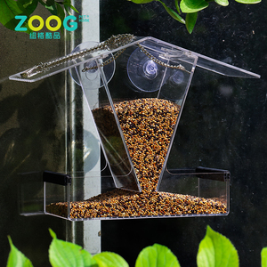 High quality Power Suction Cups acrylic window bird feeder