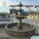 Solid marble landscape garden stone water fountain for sale NTMFO-133Y