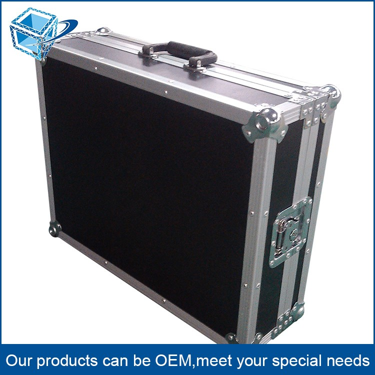 Professional Laptop and Test Equipment Aluminium Tool Box Flight Case Heavy Duty Lockable Briefcase