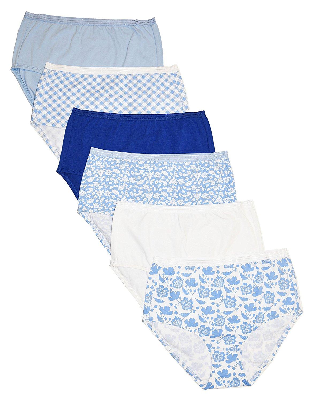 640f521d9 Get Quotations · CHEROKEE Cherokee 6 Piece Ladies Cotton Stretch Brief Underwear  Underwear