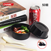 High quality PP disposable 3 compartment plastic food container with lid