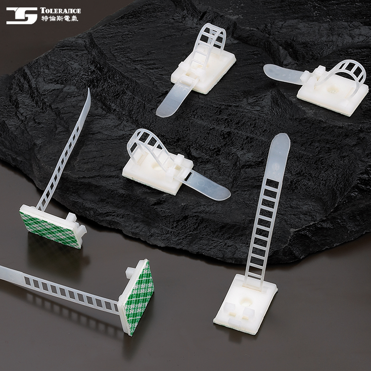 PA66 Material Colored Plastic Products Cable Clamp Adjustable Plastic Tie Mount
