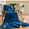 Strip design flannel knitted china blanket