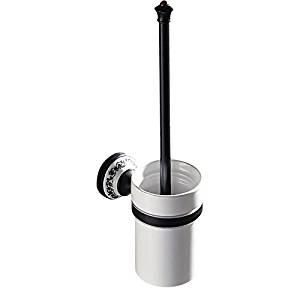 Bathroom black European copper ceramic pedestal toilet brush,black antique toilet brush holder set,toilet brushes,toilet brush holder,toilet brush set