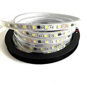 JIAHUA 16.4ft 5meters Ws2811 Led Strip 48 leds/m Dc12V Ws2811 Pixel Led Strip 5050 IP67 White Color For Outdoor Using White Pcb Board
