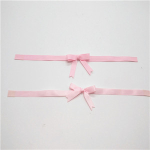 Festival party gift wrapping decorative pre tied pull bow ribbon with self adhesive
