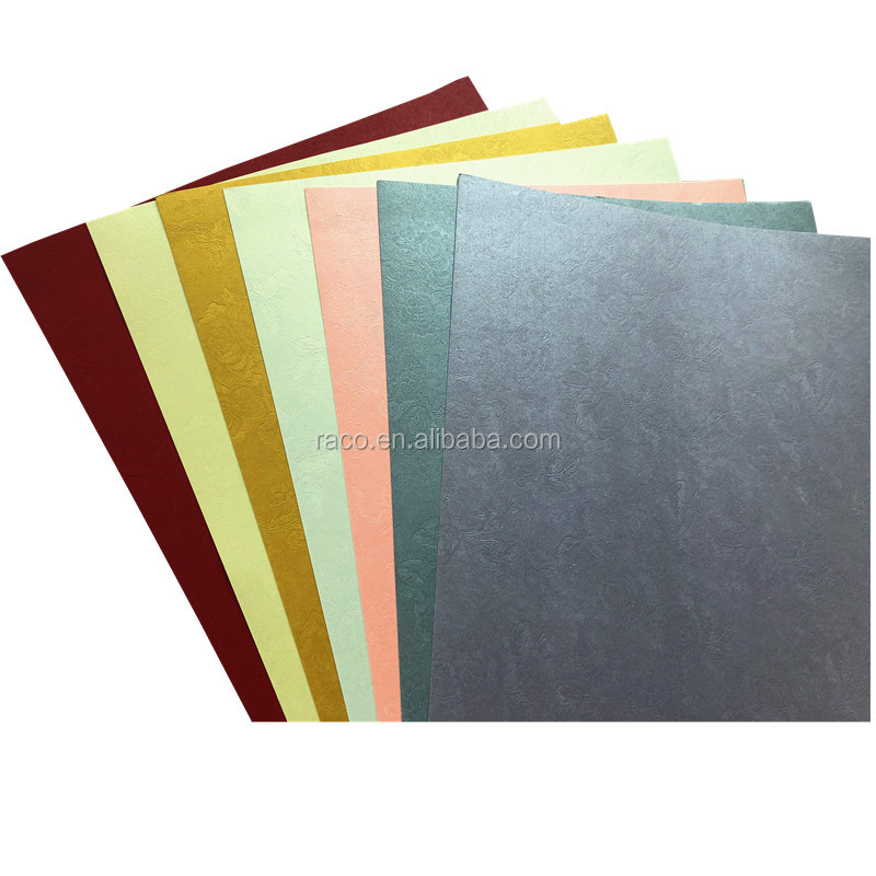 120g 250g Premium embossed pearl paper single double side coated metallic paper cardstock