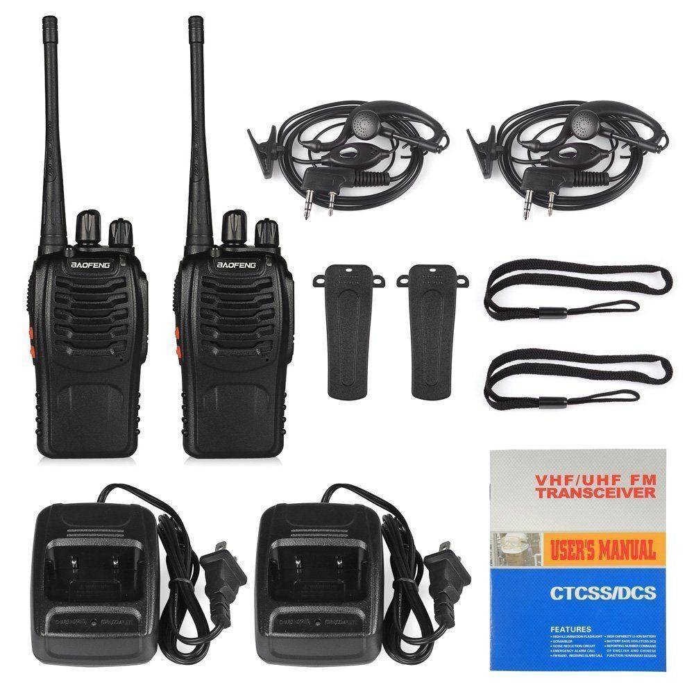 Baofeng BF-888S Walkie Talkie 2 Way Radio16CH 400-470 MHz Ham Radio UHF Long Range Radio