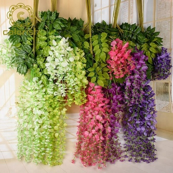 Ew,091 Beautiful Colorful Artificial Decorative Flower Vines Wedding Wall  Decoration Wall Hanging Flower Vine , Buy Artificial Decorative