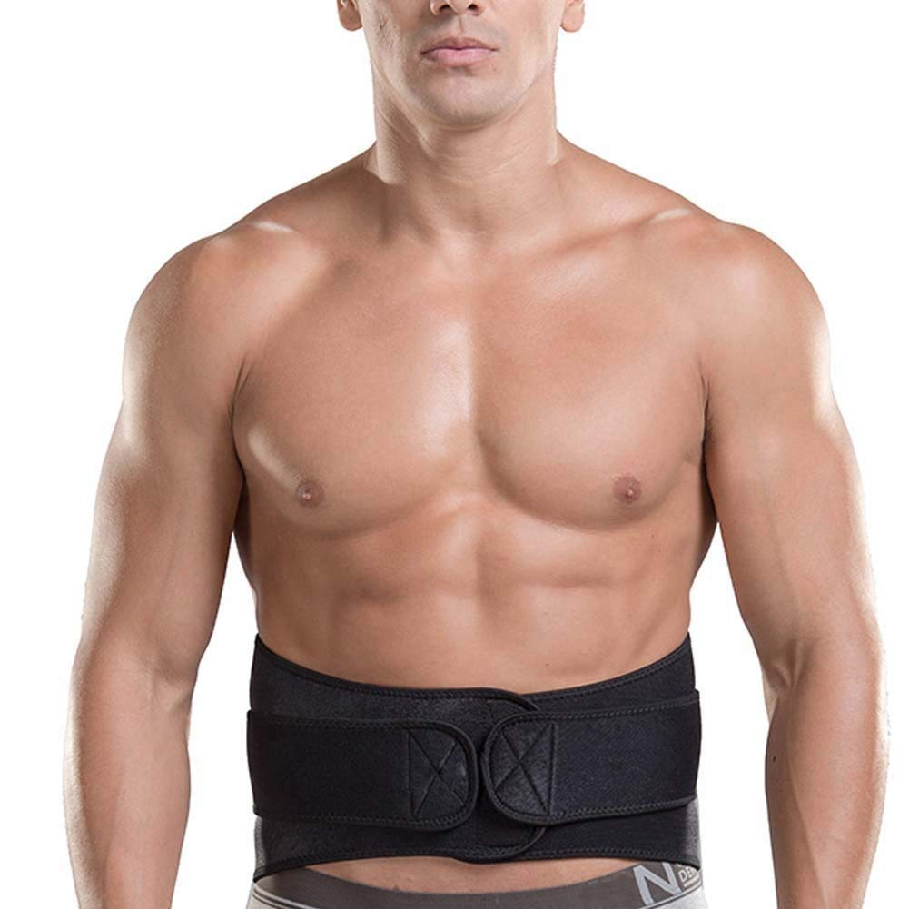 DIBIO Waist Trimmer Waist Trainer Adjustable Sweat Belt Stomach Body Wrap & Back Lumbar Support for Men and Women