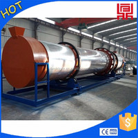 Export wood sawdust drum dryer,wood powder rotary dryer from henan factory