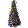 2017 imported plastic tinsel material stand christmas tree decorative accessories