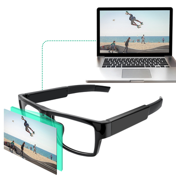 Spy Camera Glasses Hidden Full HD 1080P 16G Eyeglasses Camcorder With Video Hand Free Recording