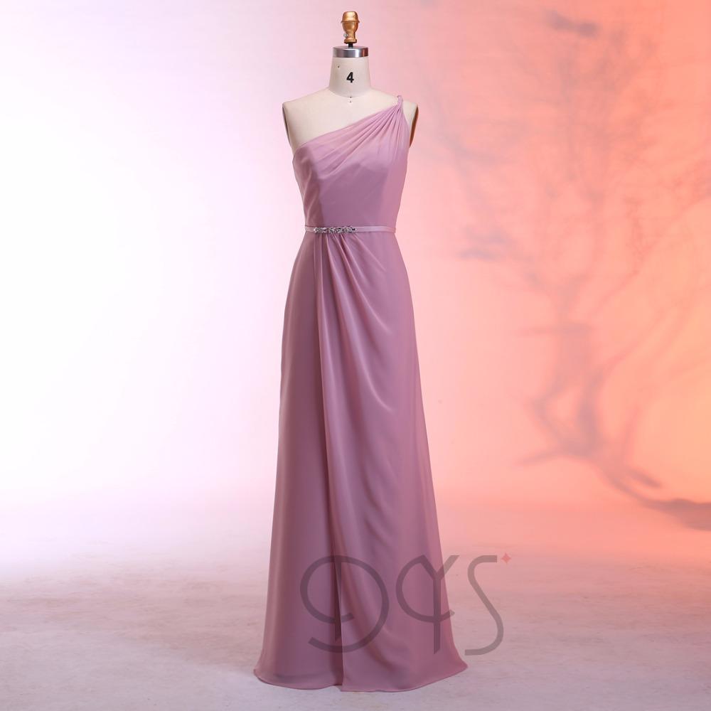 Venta al por mayor vestidos de dama de honor tela chifon-Compre ...