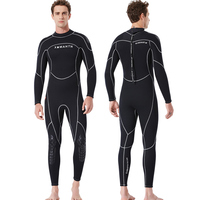 2019 new 3MM Neoprene diving suit male Siamese warm swimwear winter long-sleeved surf sunscreen clothing