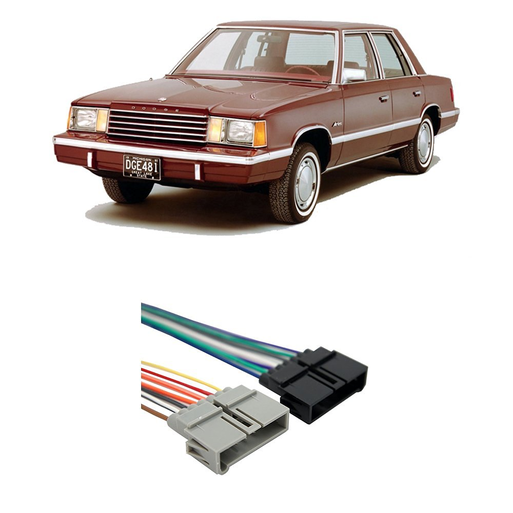 Get Quotations · Dodge Aries 1984-1989 Factory Stereo to Aftermarket Radio  Harness Adapter