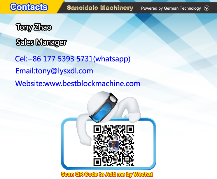 Automatic hollow block making machine concrete with low repairing cost,  View german concrete block making machine, Sancidalo Product Details from