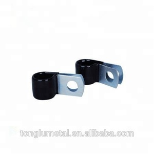 stainless steel 304 black EPDM rubber cable p clips