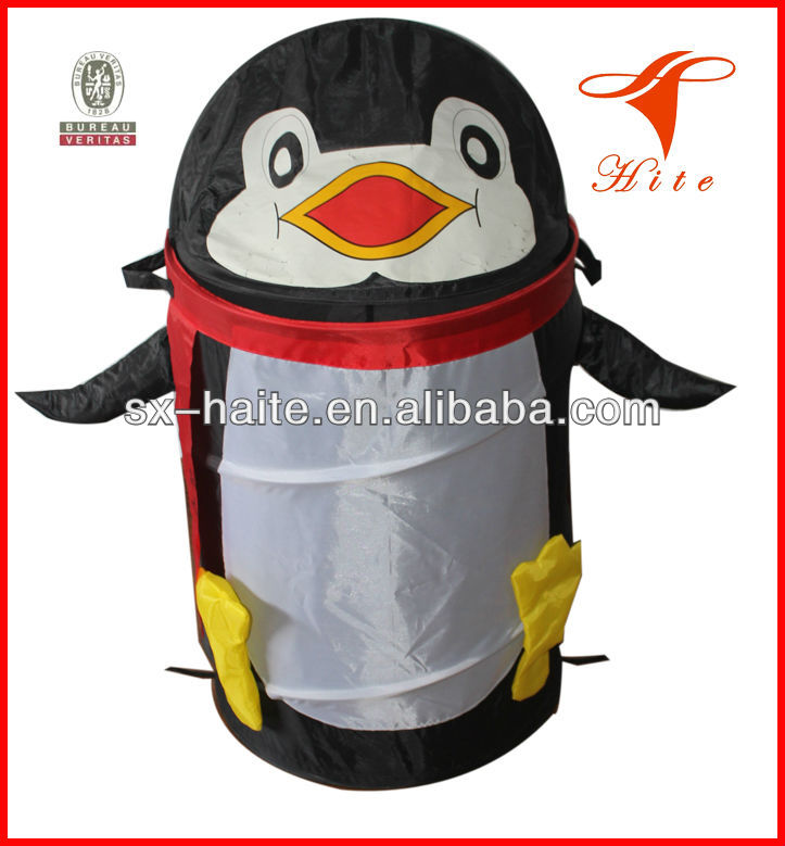 Collapsible Kids Pop Up Penguin Laundry Hamper