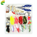 100 pcs Box Lure Fishing Accessories Tackle Box with Complete Fishing Lure Fishhooks Wire Connector Beads