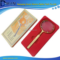 DR032 6X High Quality Gifts Metal Reading Optical Handheld Magnifying Glass