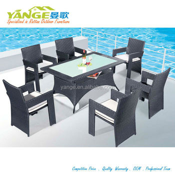 Patio Rattan Dining Table And Chairs Alibaba Outdoor Furniture China