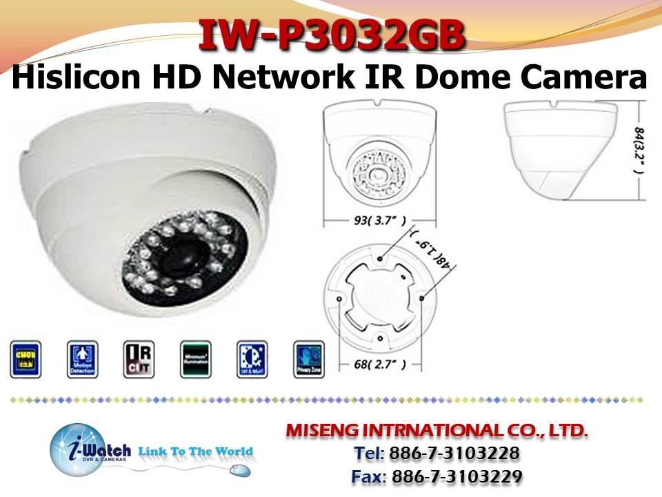 IW- P3032GB 960P High Definition Night Vision IP Camera
