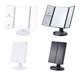 Professional three sides LED Lighted fold cosmetics makeup mirror
