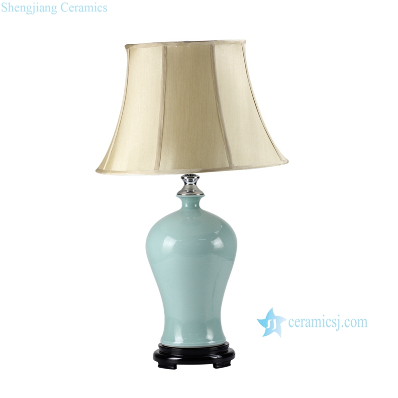 DS57-RYNQ Light blue glaze tiffany style ceramic bedchamber lamp