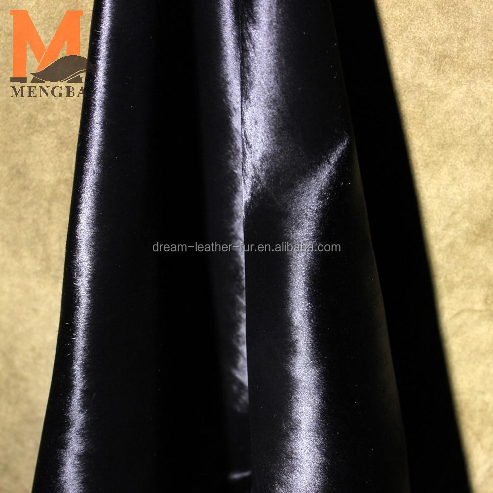 black color calf hair calf skin hides cow hair on leather for garment