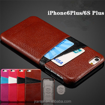 Wholesale leather cover for phone6S plus cowhide leather case for Iphone 6 plus