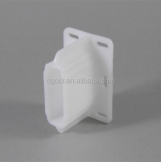 Custom high quality nylon plastic mounting bracket with hole
