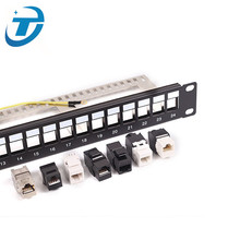 (High) 저 (quality 48 port <span class=keywords><strong>cat5e</strong></span> cat6 cat7 ethernet patch panel