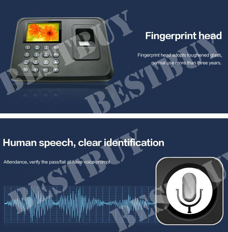 Free Shipping Biometric Fingerprint Time Attendance Time Clock